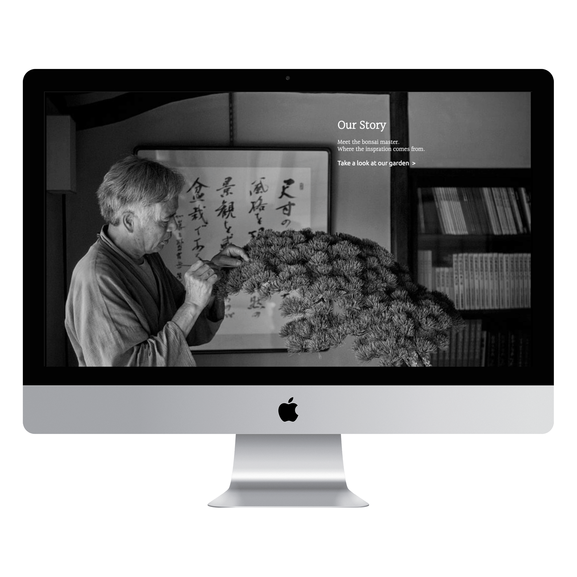 website of Dream of Bonsai is shown on MacBook